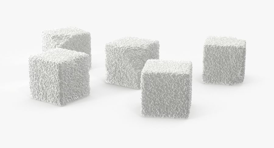 Sugar Cubes royalty-free 3d model - Preview no. 2