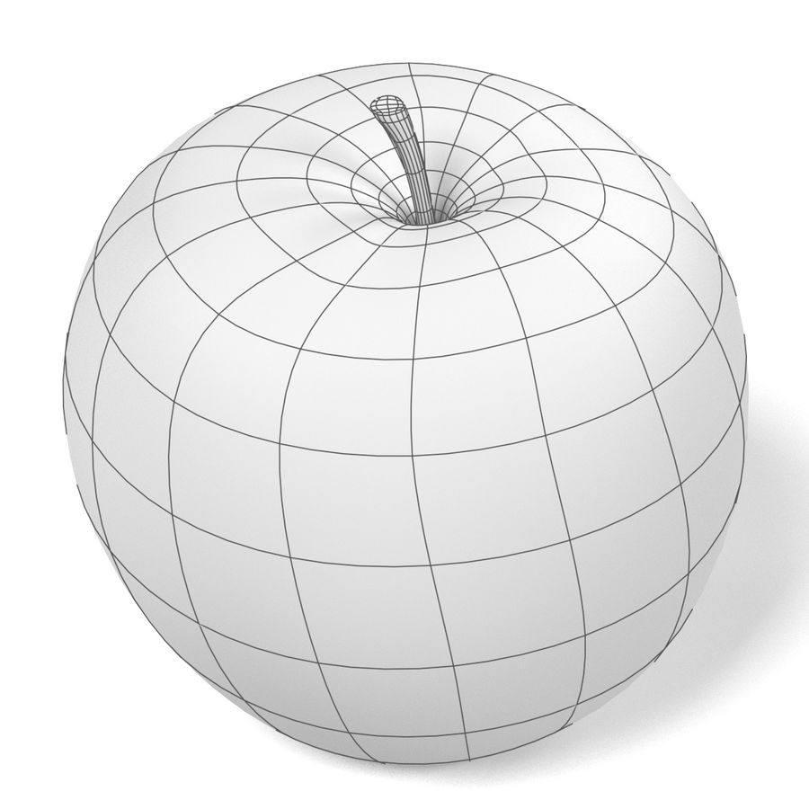 Apple royalty-free 3d model - Preview no. 13