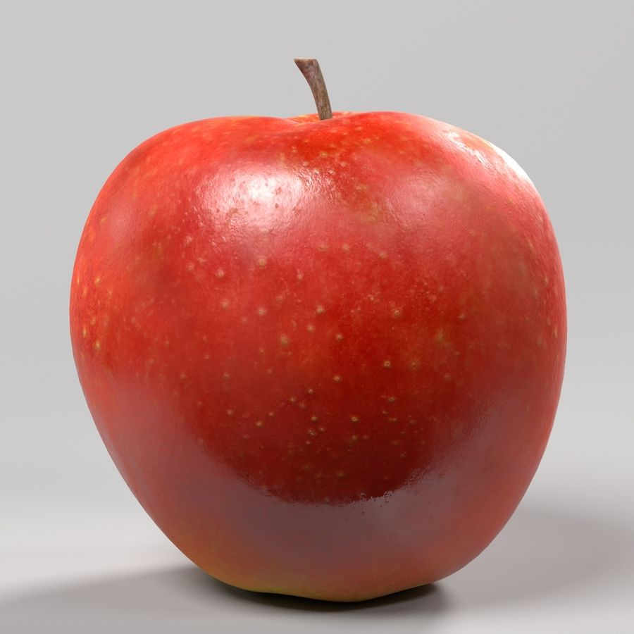 Apple royalty-free 3d model - Preview no. 3
