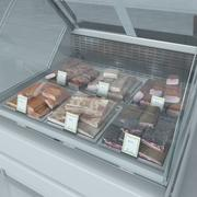 Becon肉冷藏展示柜 3d model