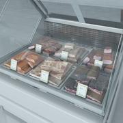Gekoelde showcase met Becon Meat 3d model