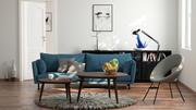 Living room for Octane render 3dsmax 3d model