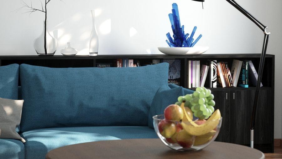 Living Room For Octane Render 3dsmax Royalty Free 3d Model   Preview No. 2