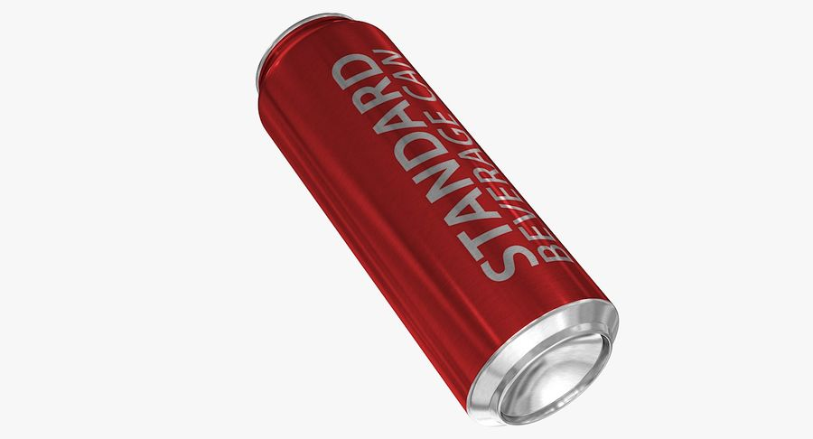 568ml 19.2oz Standard Beverage Can royalty-free 3d model - Preview no. 9