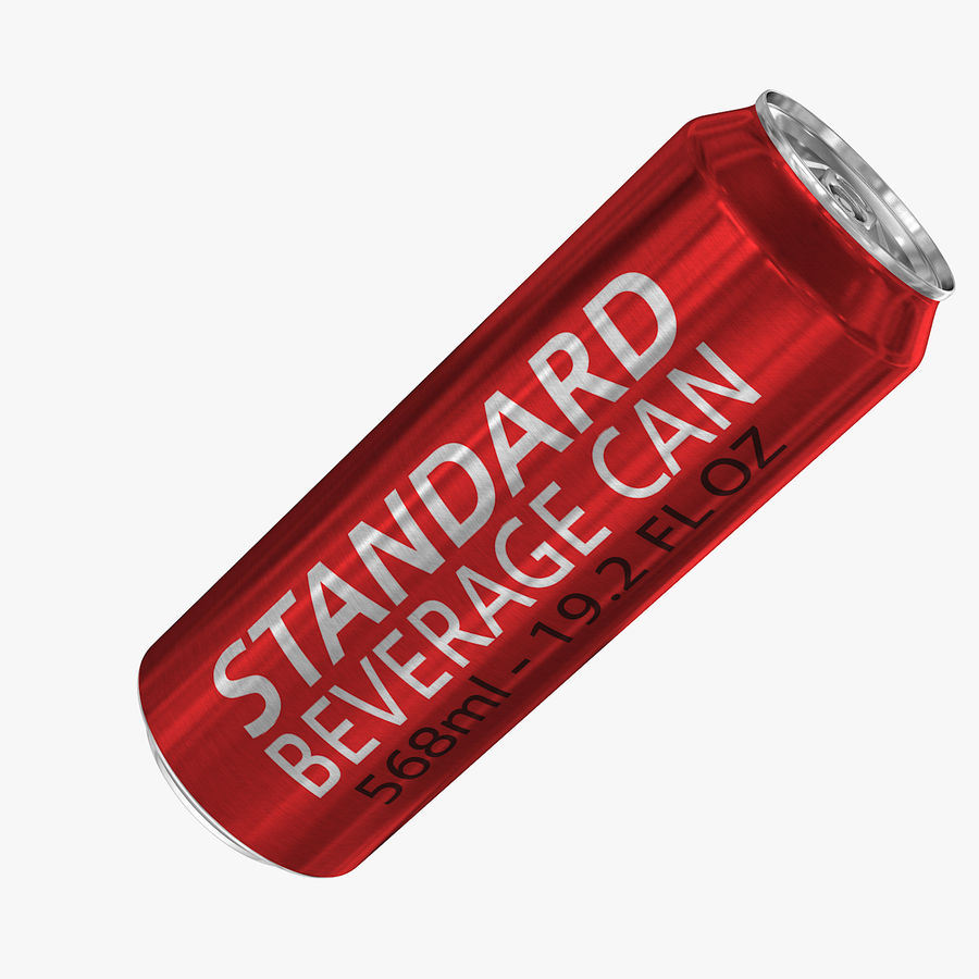 568ml 19.2oz Standard Beverage Can royalty-free 3d model - Preview no. 1