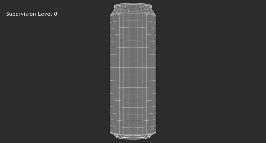 568ml 19.2oz Standard Beverage Can royalty-free 3d model - Preview no. 14