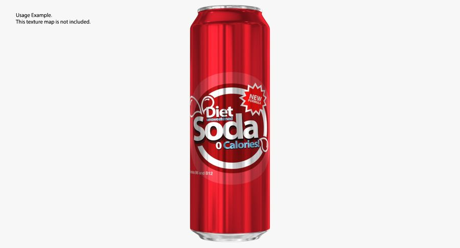 568ml 19.2oz Standard Beverage Can royalty-free 3d model - Preview no. 10