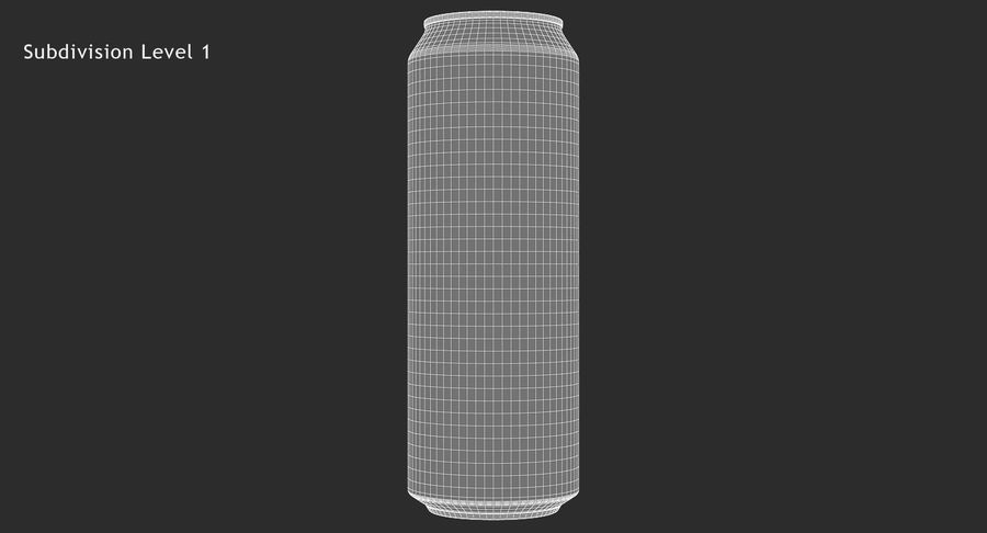 568ml 19.2oz Standard Beverage Can royalty-free 3d model - Preview no. 15