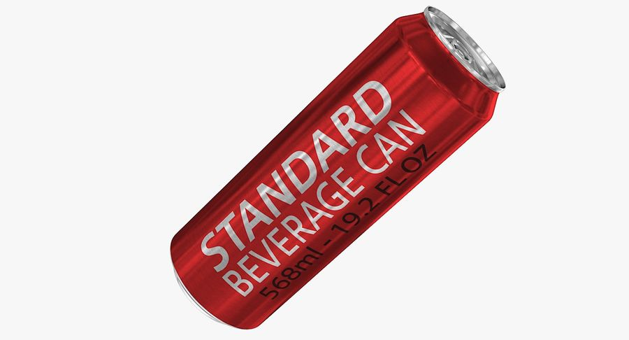 568ml 19.2oz Standard Beverage Can royalty-free 3d model - Preview no. 2