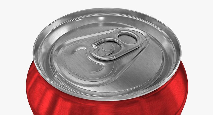 568ml 19.2oz Standard Beverage Can royalty-free 3d model - Preview no. 6