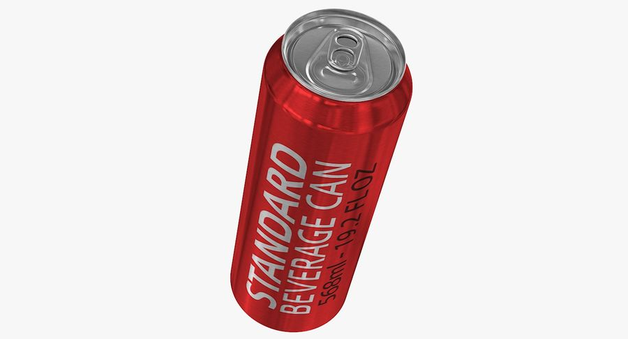 568ml 19.2oz Standard Beverage Can royalty-free 3d model - Preview no. 7