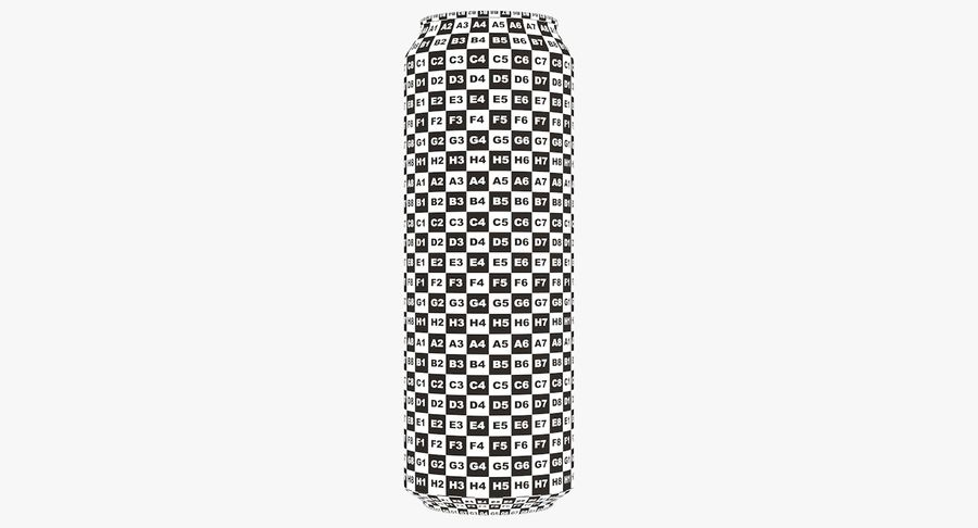 568ml 19.2oz Standard Beverage Can royalty-free 3d model - Preview no. 21
