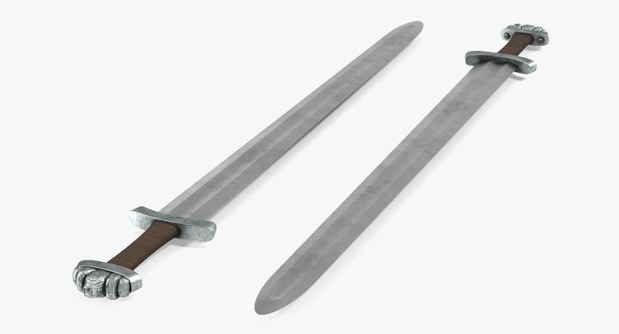 Средневековый меч викингов royalty-free 3d model - Preview no. 7