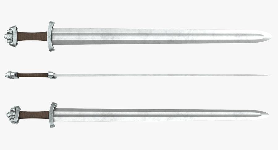 Средневековый меч викингов royalty-free 3d model - Preview no. 5