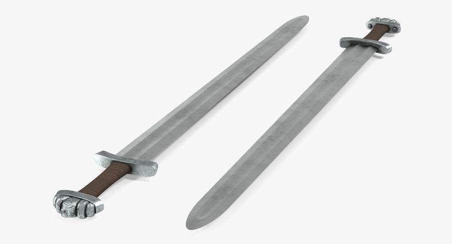 Espada vikinga medieval royalty-free modelo 3d - Preview no. 7