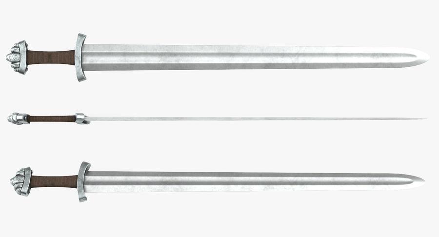 Espada vikinga medieval royalty-free modelo 3d - Preview no. 5