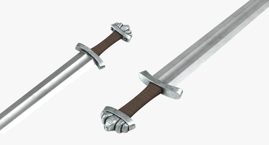 Espada vikinga medieval royalty-free modelo 3d - Preview no. 8