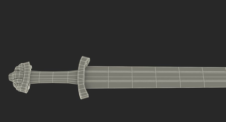 Средневековый меч викингов royalty-free 3d model - Preview no. 17