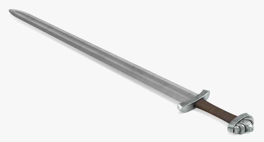 Средневековый меч викингов royalty-free 3d model - Preview no. 3