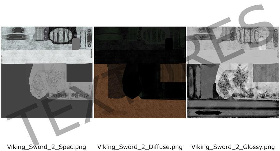 Espada vikinga medieval royalty-free modelo 3d - Preview no. 13