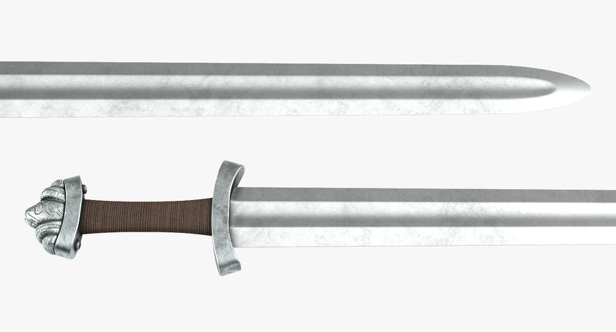 Средневековый меч викингов royalty-free 3d model - Preview no. 6