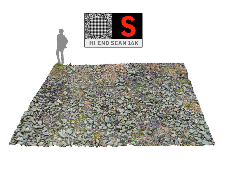 Rock mountains  Ground 16K royalty-free 3d model - Preview no. 1