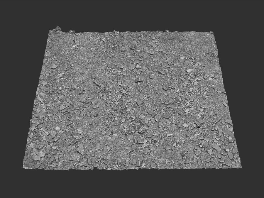 Rock mountains  Ground 16K royalty-free 3d model - Preview no. 10
