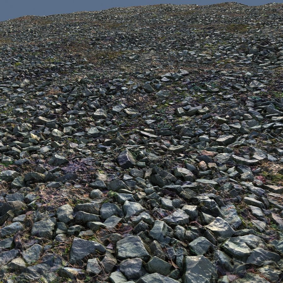 Rock mountains  Ground 16K royalty-free 3d model - Preview no. 7