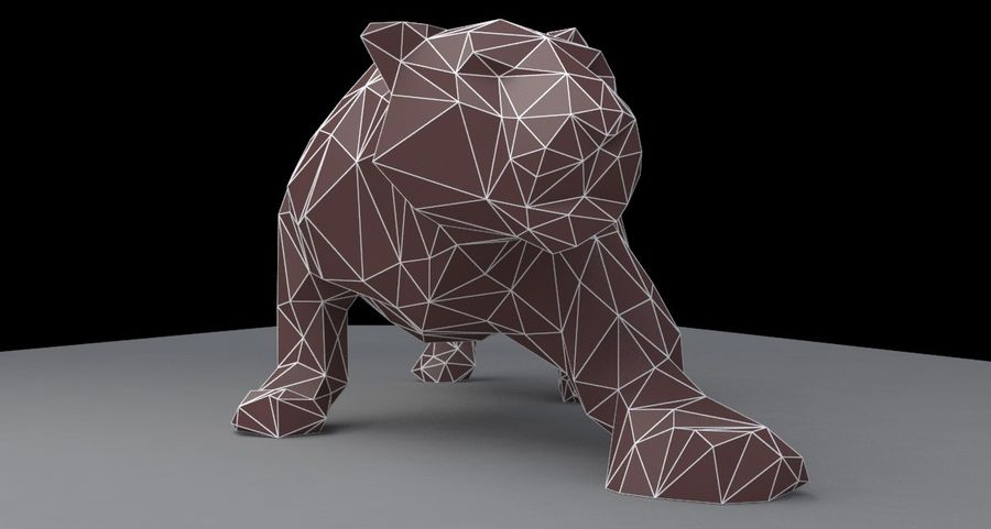 Leopard low poly royalty-free 3d model - Preview no. 4