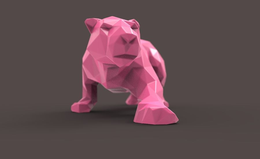 Leopard low poly royalty-free 3d model - Preview no. 2