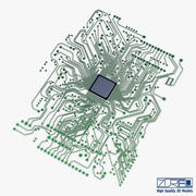 Circuito eletrônico v 1 3d model