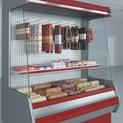 Refrigerated Showcase with sausages 4 3d model