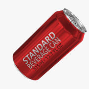 375ml 12.7oz Standard Beverage Can 3d model