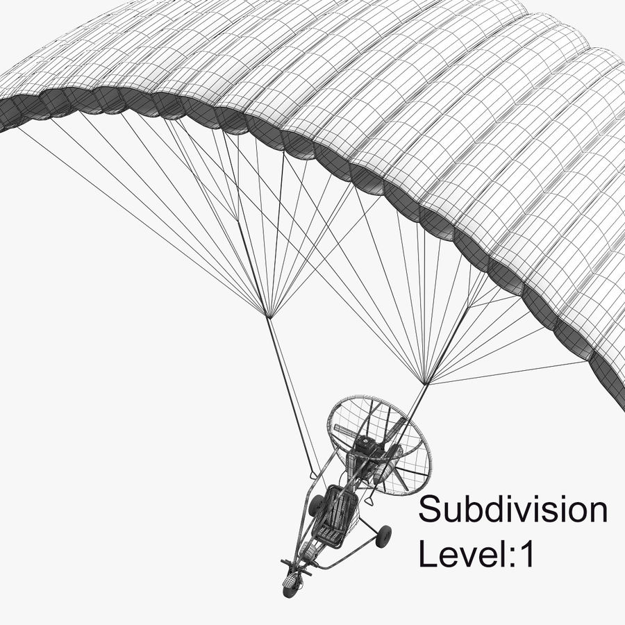 Powered Paraglider 3D Model $45 -  unknown  fbx  max - Free3D