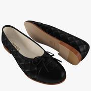 Chanel женские балетки черные 3d model