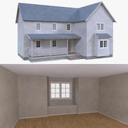House three with interior full 3d model