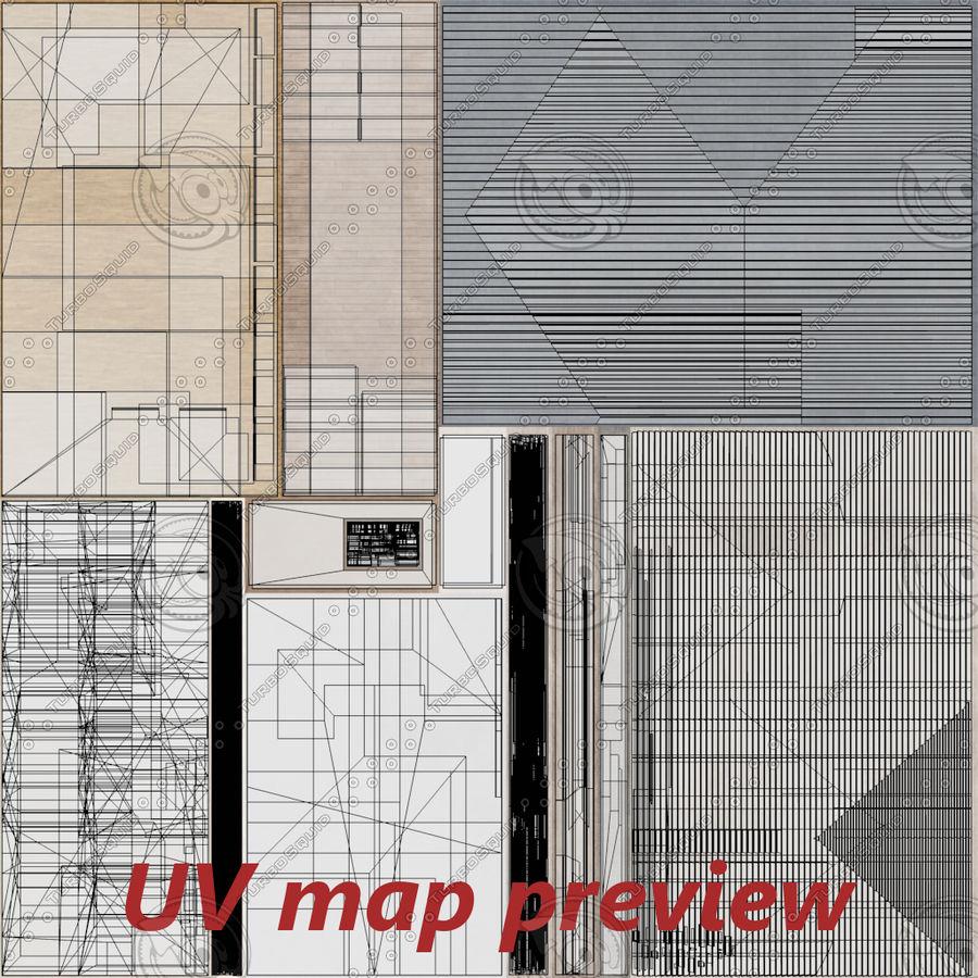 인테리어가 가득한 하우스 3 royalty-free 3d model - Preview no. 28
