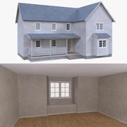 Haus drei mit voller Innenausstattung 3d model