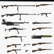 World War II USSR Guns 3d model