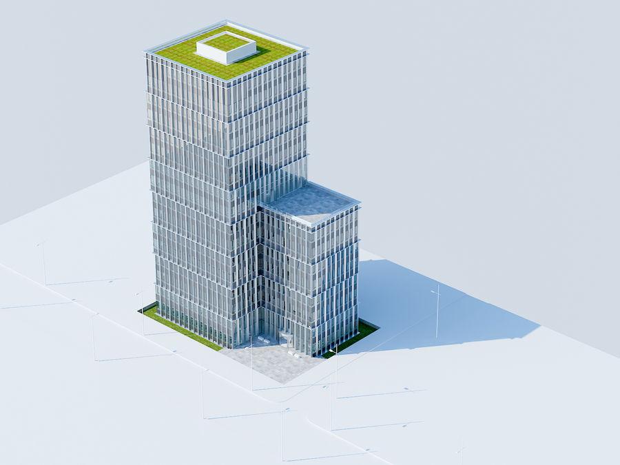 Skyscraper 012 royalty-free 3d model - Preview no. 2
