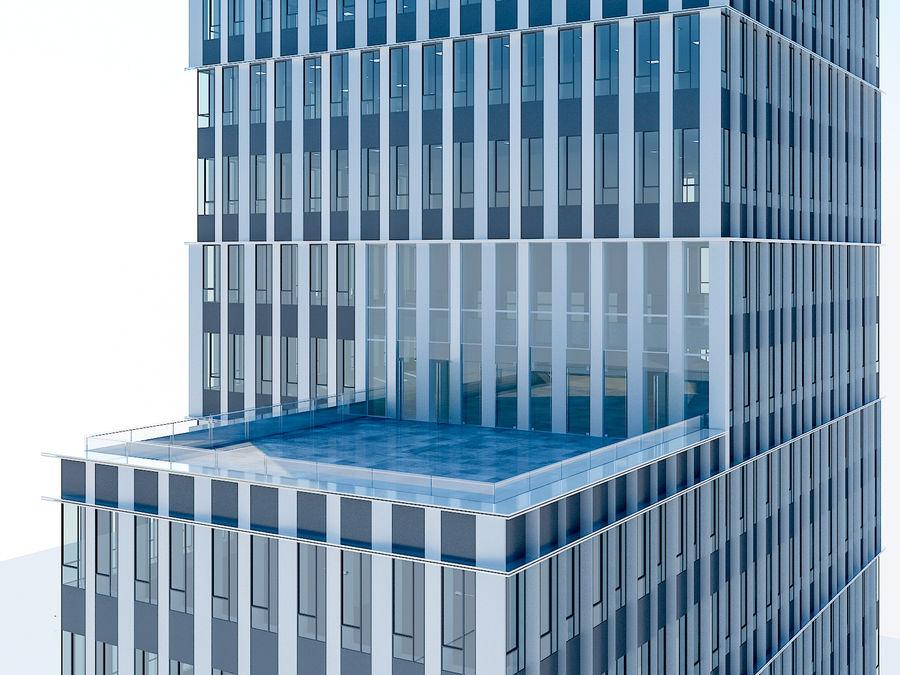 Skyscraper 012 royalty-free 3d model - Preview no. 19
