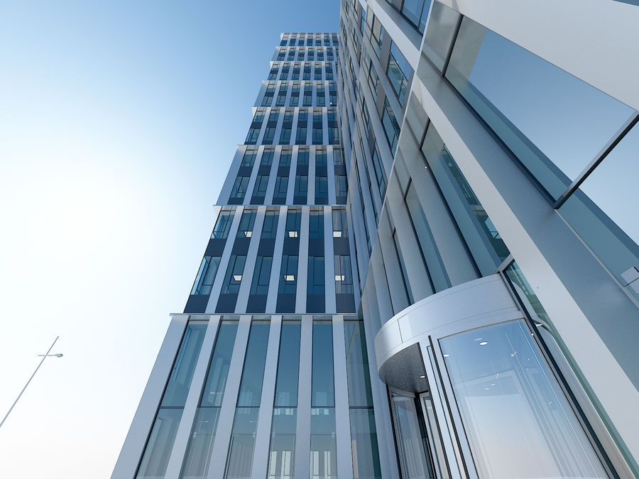 Skyscraper 012 royalty-free 3d model - Preview no. 6