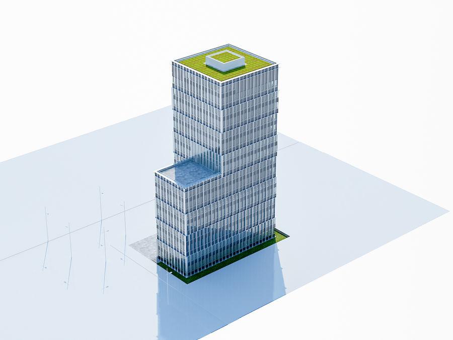 Skyscraper 012 royalty-free 3d model - Preview no. 3