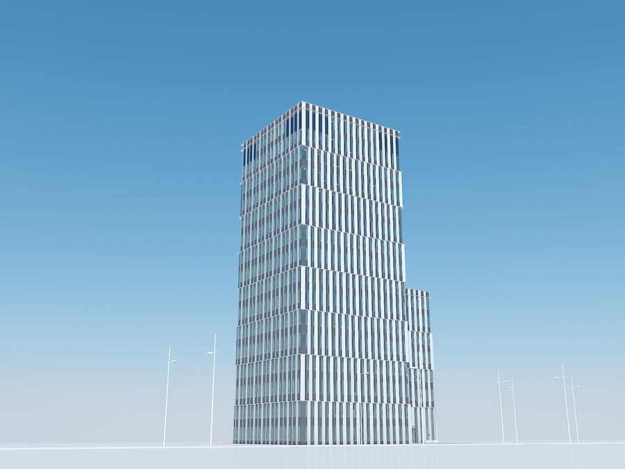 Skyscraper 012 royalty-free 3d model - Preview no. 12