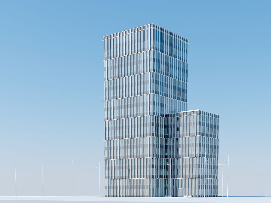 Skyscraper 012 royalty-free 3d model - Preview no. 1