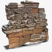 Fragment ściany Ankor Wat 1 3d model