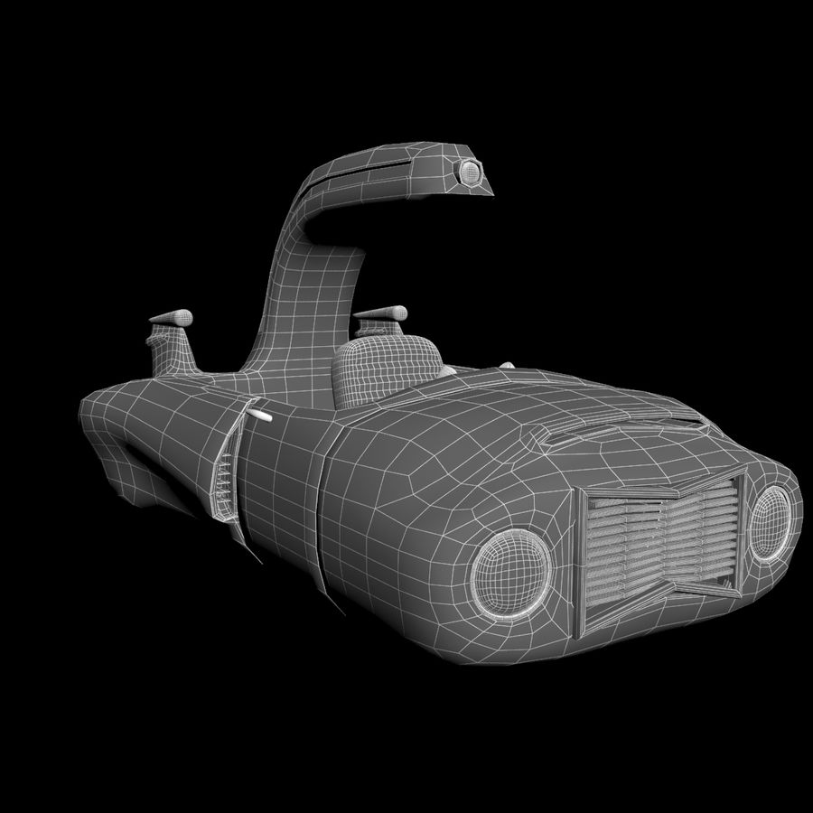 Cartoon Spaceship royalty-free 3d model - Preview no. 10