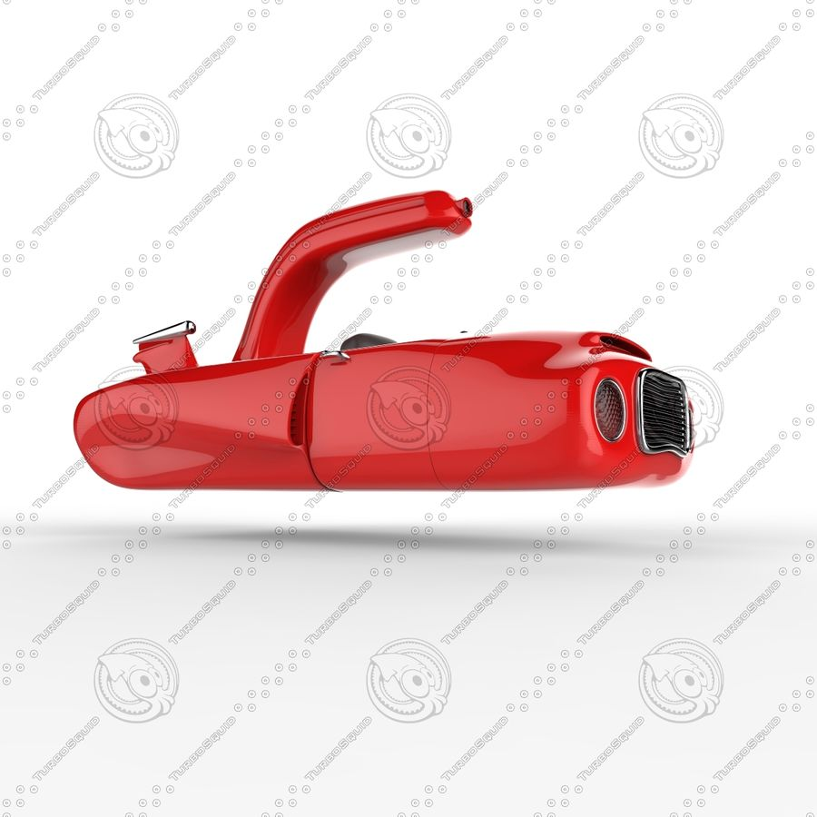 Cartoon Spaceship royalty-free 3d model - Preview no. 4
