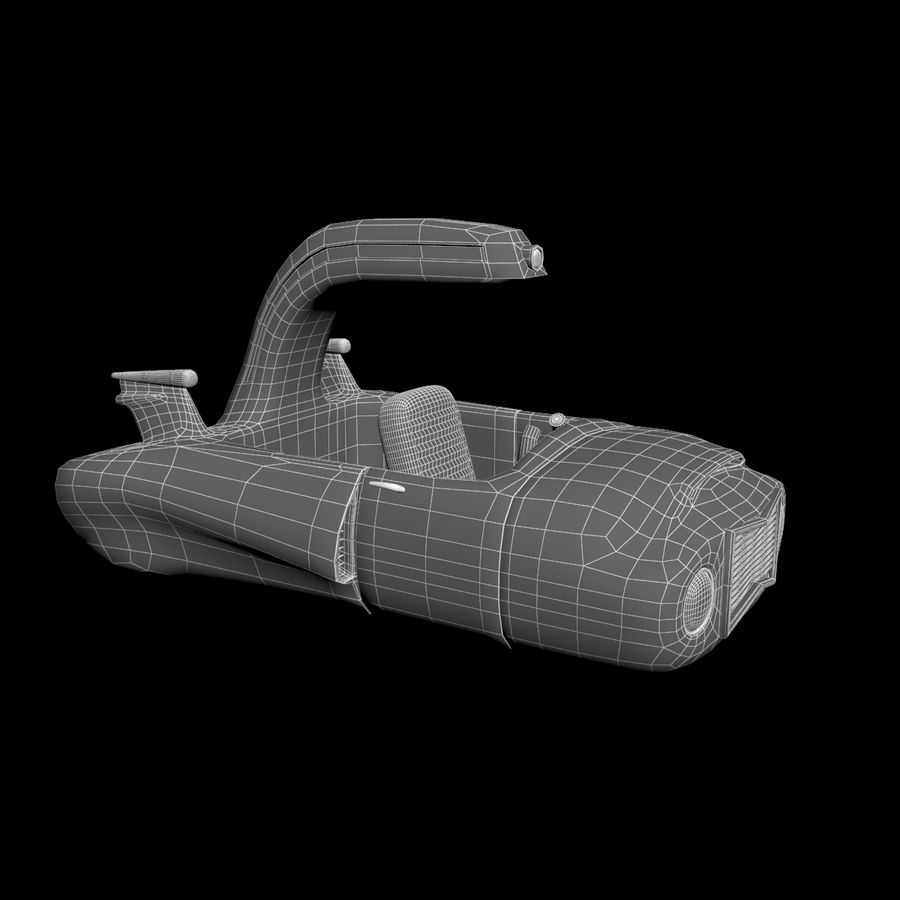Cartoon Spaceship royalty-free 3d model - Preview no. 14