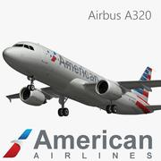 Airbus A320 American Airlines modelo 3d